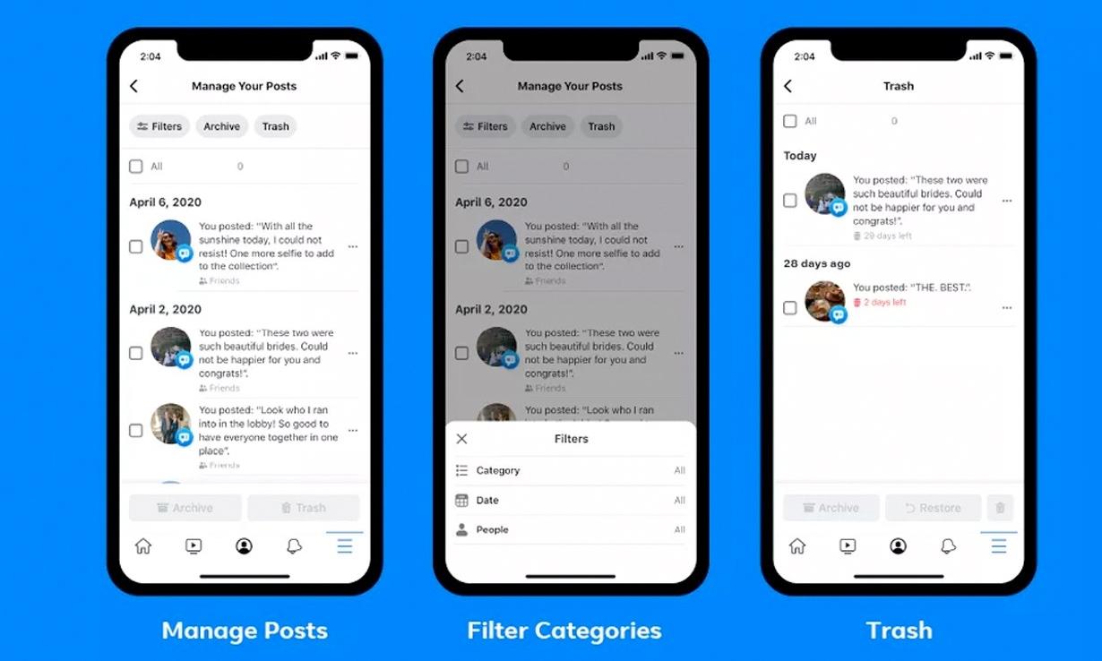 Facebook 全新推出「一键清理」贴文功能
