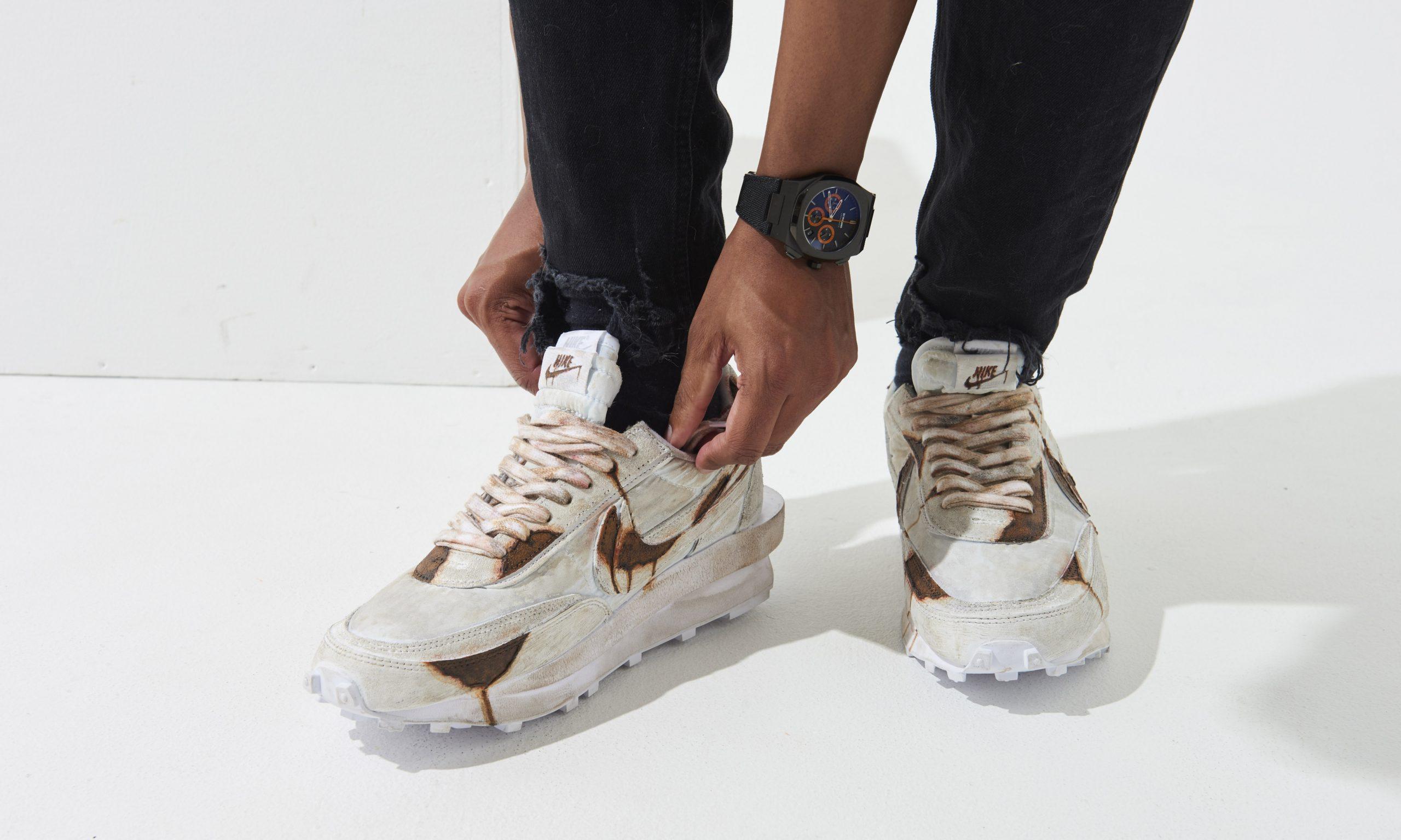 限量 30 双,日本定制单位 STuREET 发布 sacai x Nike 联乘鞋款「生锈」版本