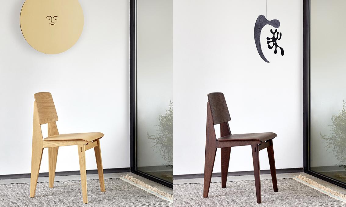 全木打造,Vitra 带回 40 年代 Chaise Tout Bois 木椅