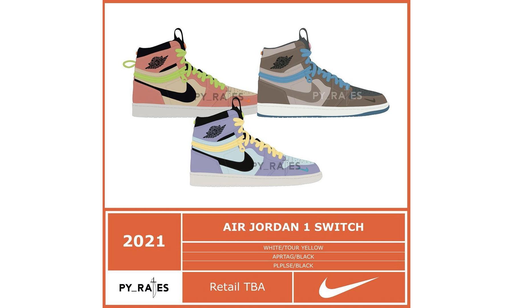 三款 Air Jordan I 新配色将于 2021 年登场