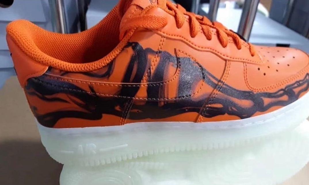 Nike Air Force 1「Skeleton Orange」实物曝光