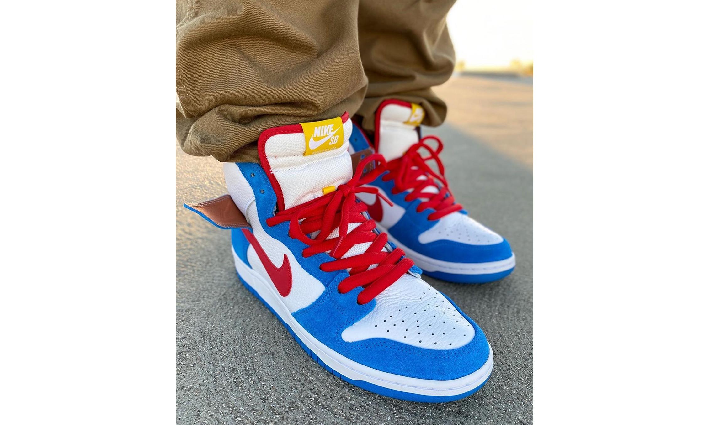 「哆啦 A 梦」主题 Nike SB Dunk High 首度曝光