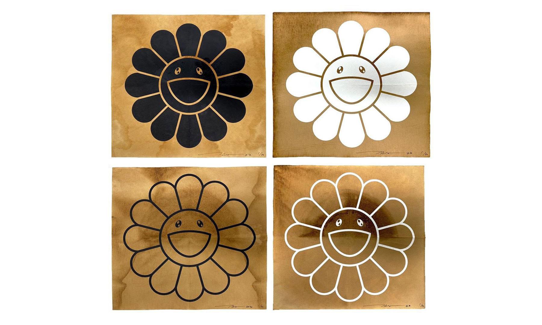 村上隆即将发售一系列以咖啡滤纸为素材制作的作品