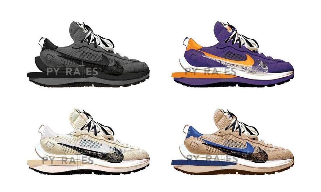 sacai x Nike Vaporwaffle 4 款新配色首度曝光