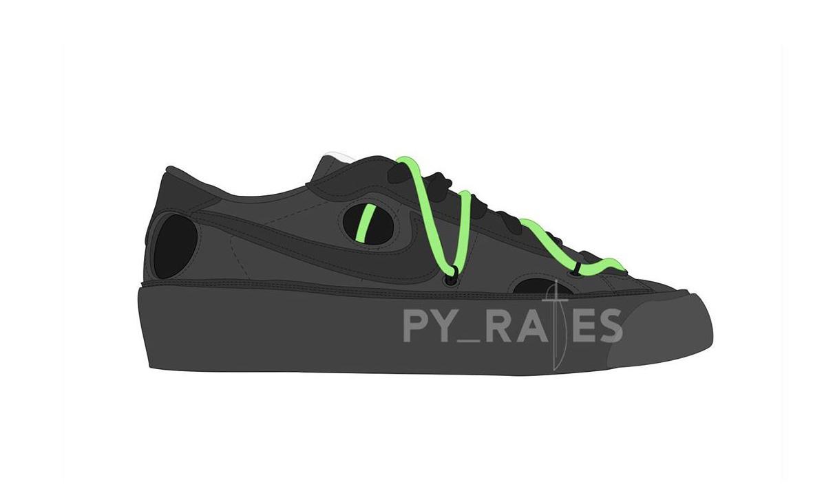 Off-White™ 与 Nike 新联名计划中,鞋型或将为 Blazer