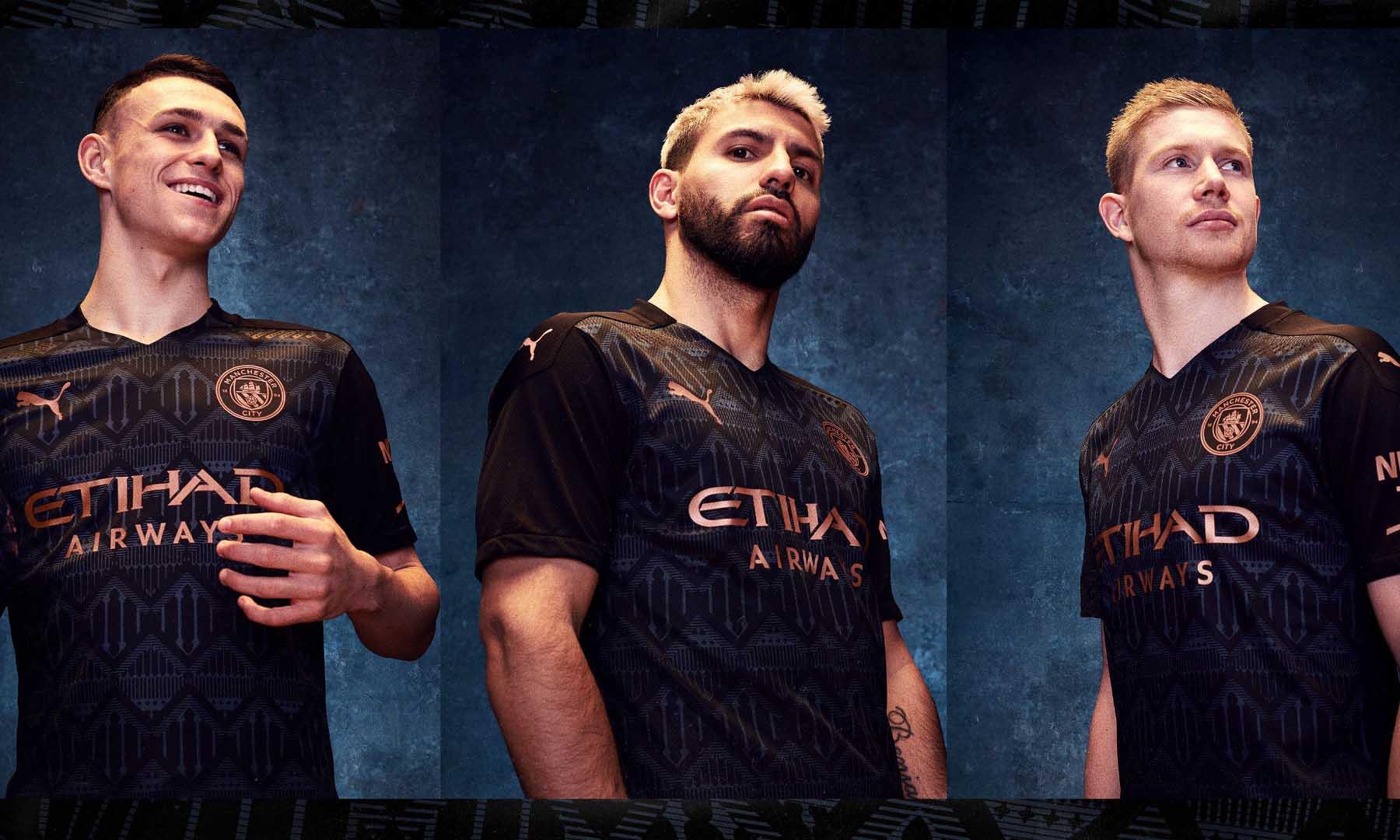 曼城队发布 2020-21 赛季客场球衣