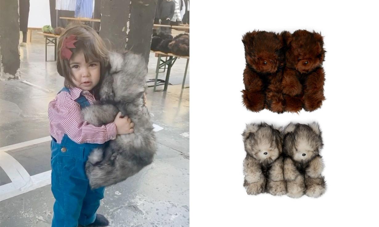 售价过万,VETEMENTS 上架新款泰迪熊毛绒拖鞋