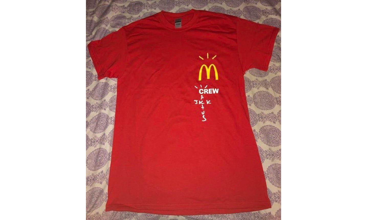 Travis Scott x 麦当劳 T恤曝光,已被 600 美元售出?