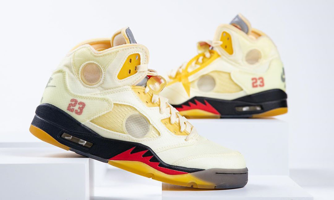 你的 Pick 是?Off-White™ x Air Jordan V「Sail」配色近赏