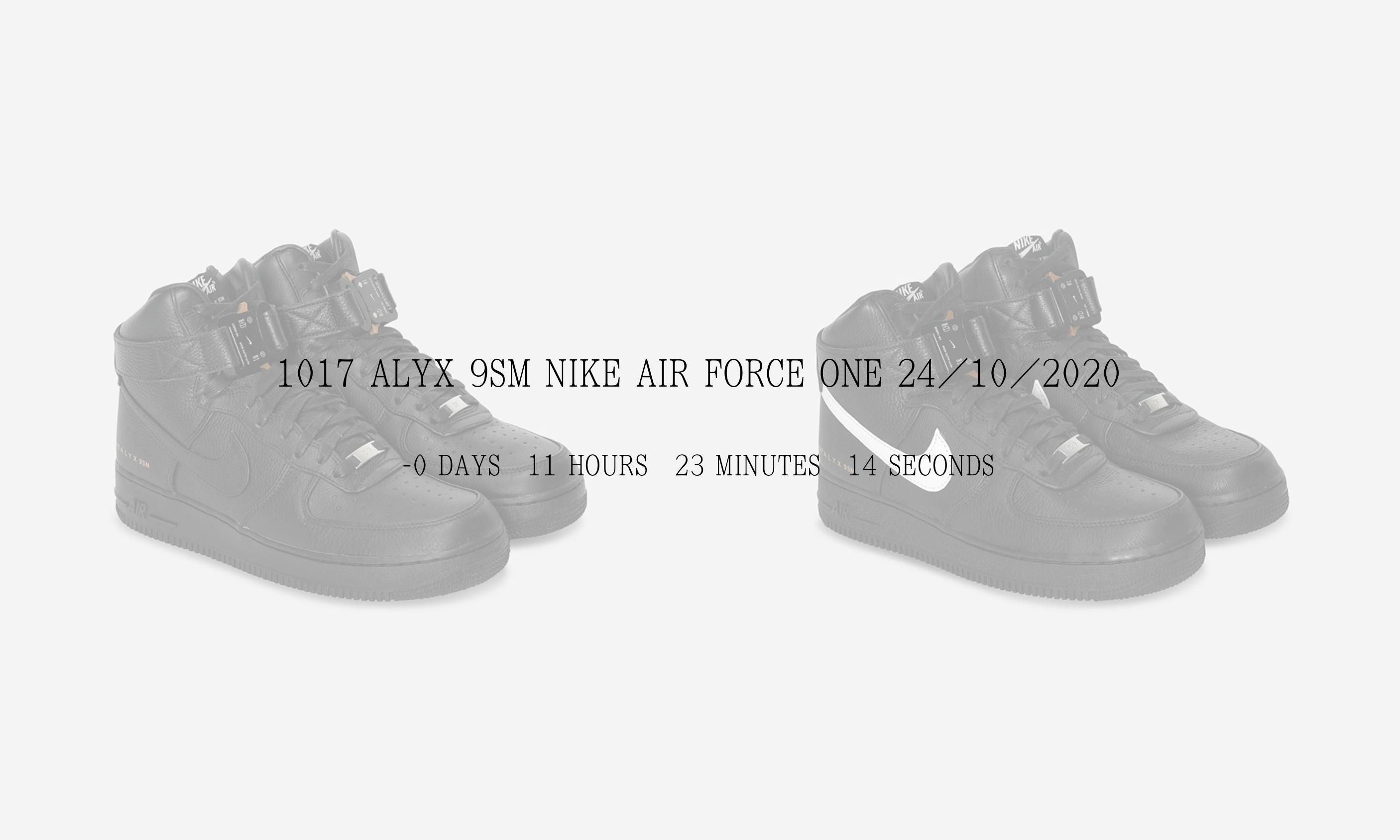 倒计时发售,1017 ALYX 9SM x Nike Air Force 1 上架官网