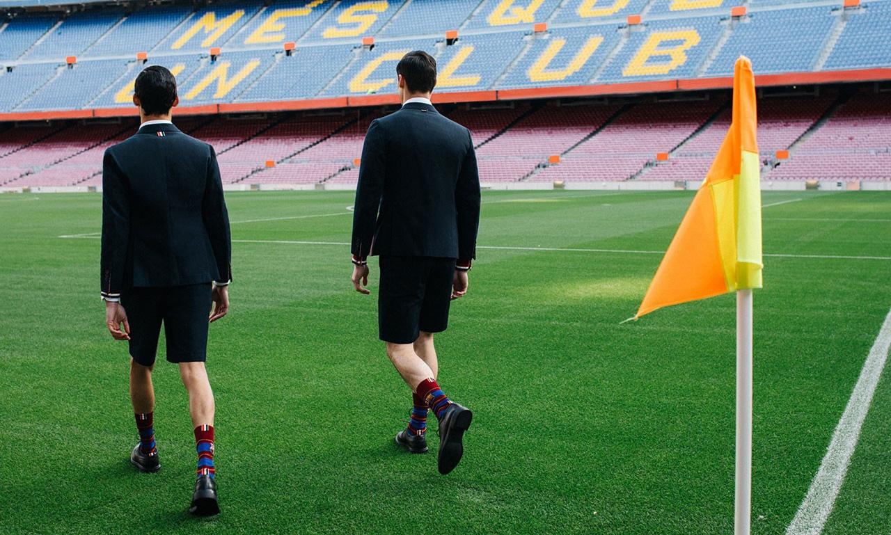 Thom Browne 推出巴塞罗那俱乐部特别胶囊系列