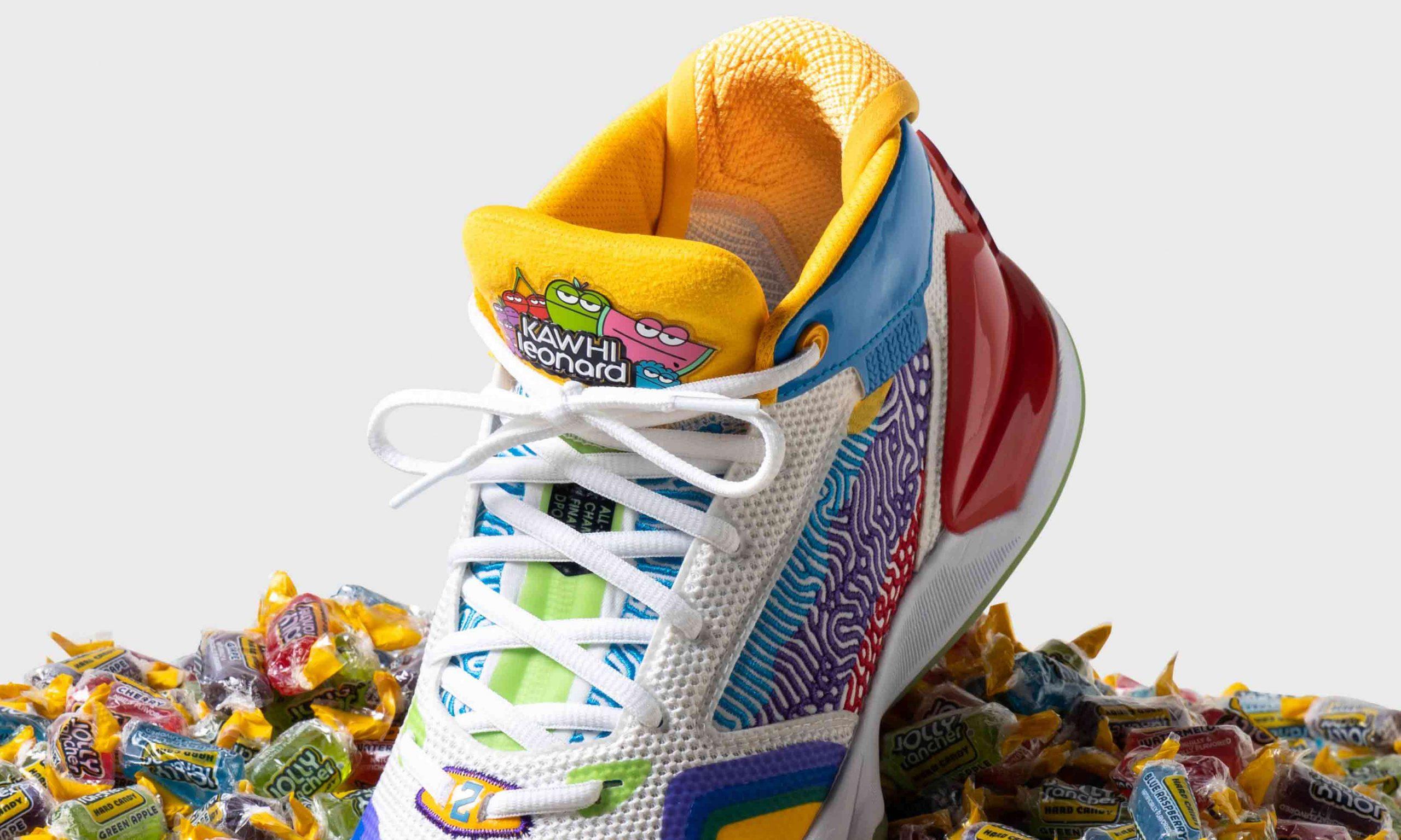 缤纷「甜蜜」,New Balance 携手 Jolly Rancher 推出「The Kawhi」签名篮球鞋