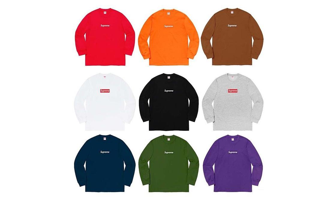Supreme Box Logo 长袖 T-Shirt 终于将在本周发售