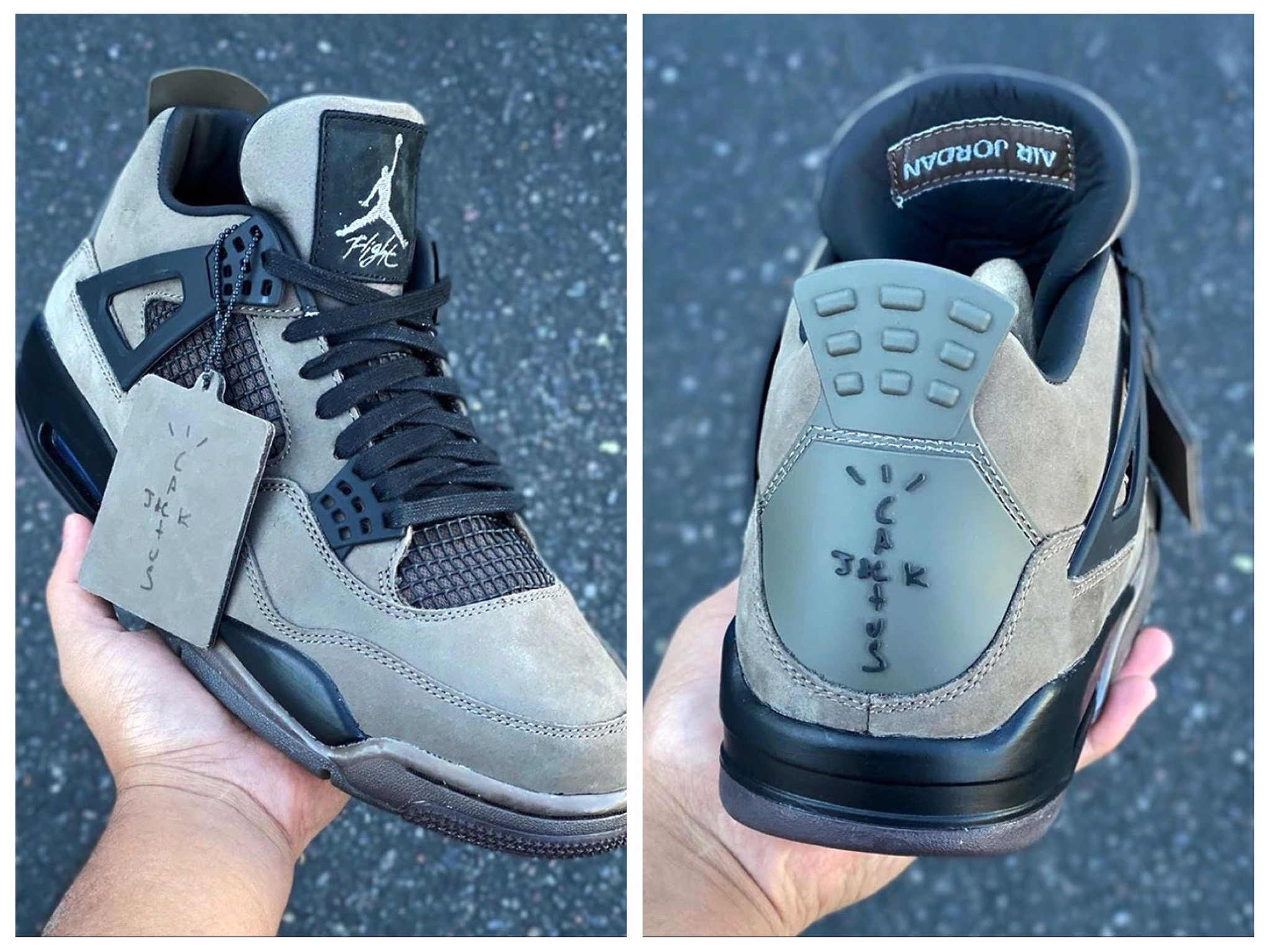 Travis Scott x Air Jordan IV「Olive」实物图再度曝光