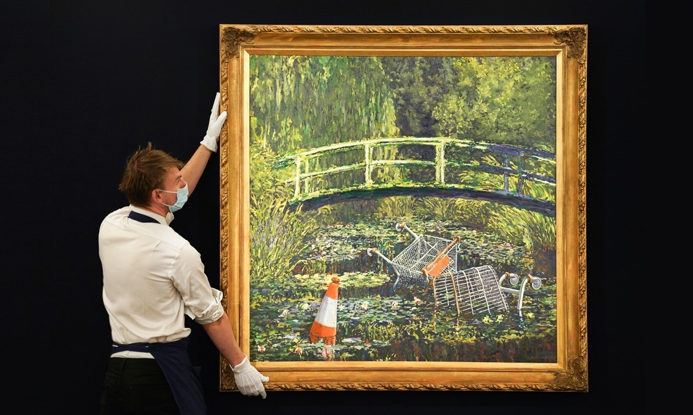 Banksy 作品《Show Me the Monet》拍出近 1,000 万美元价格