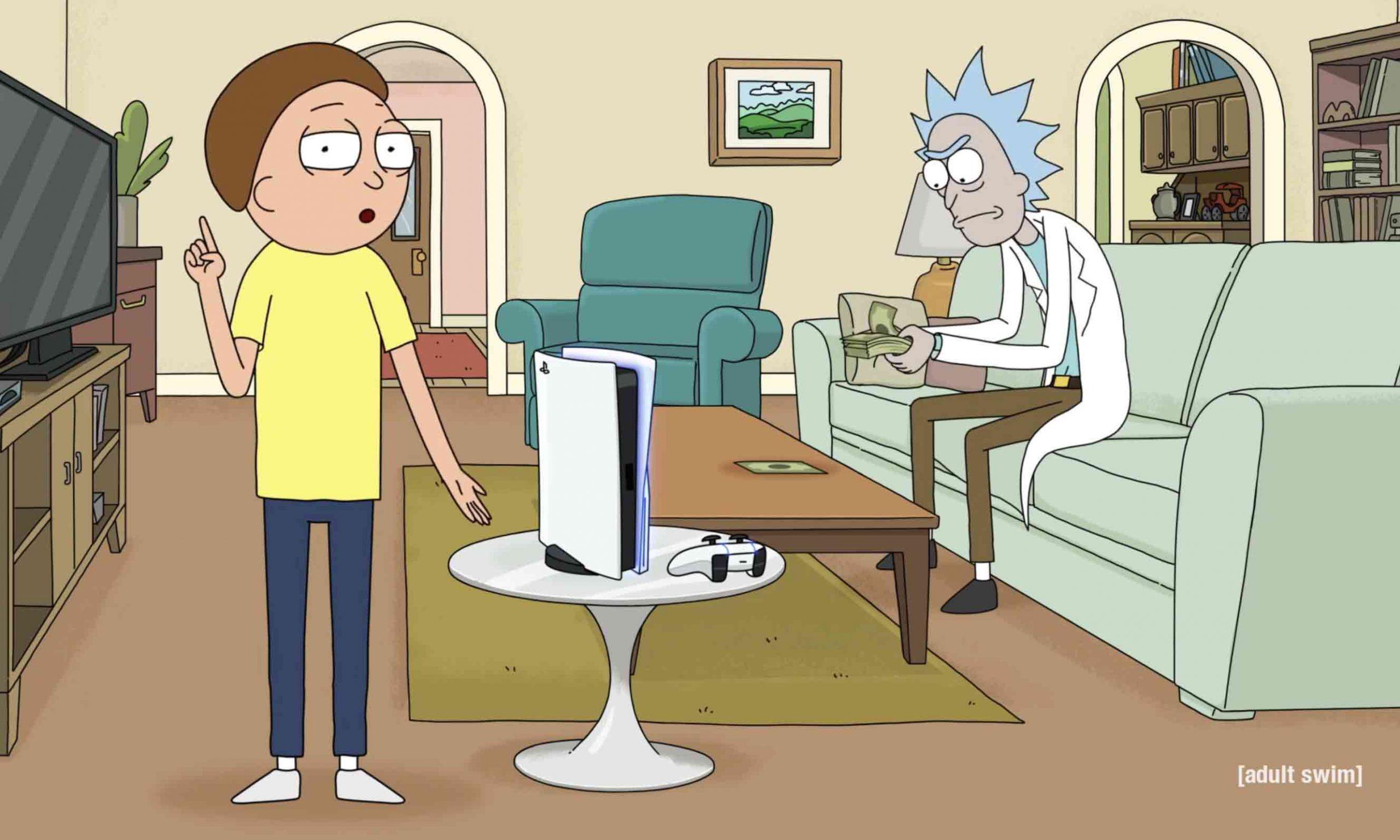 「他们付了好多钱!」,Rick and Morty 的「另类」PlayStation 5 广告
