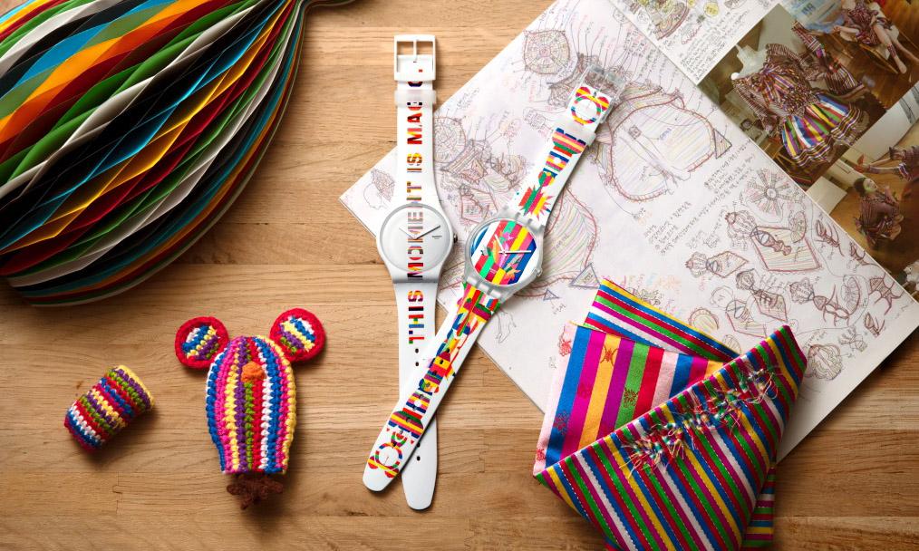 SWATCH 携手韩国艺术家 DOROTHY M. YOON 推出两款艺术家特别腕表
