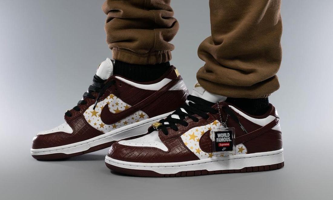 Supreme x Nike SB Dunk Low「Brown Stars」上脚近赏