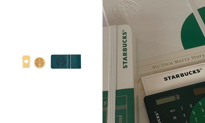 圣诞限定,韩国 Starbucks 推出极简日记簿与贴纸