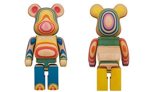 Haroshi 与 MEDICOM TOY 携手 Karimoku 打造全新木质 BE@RBRICK 玩偶