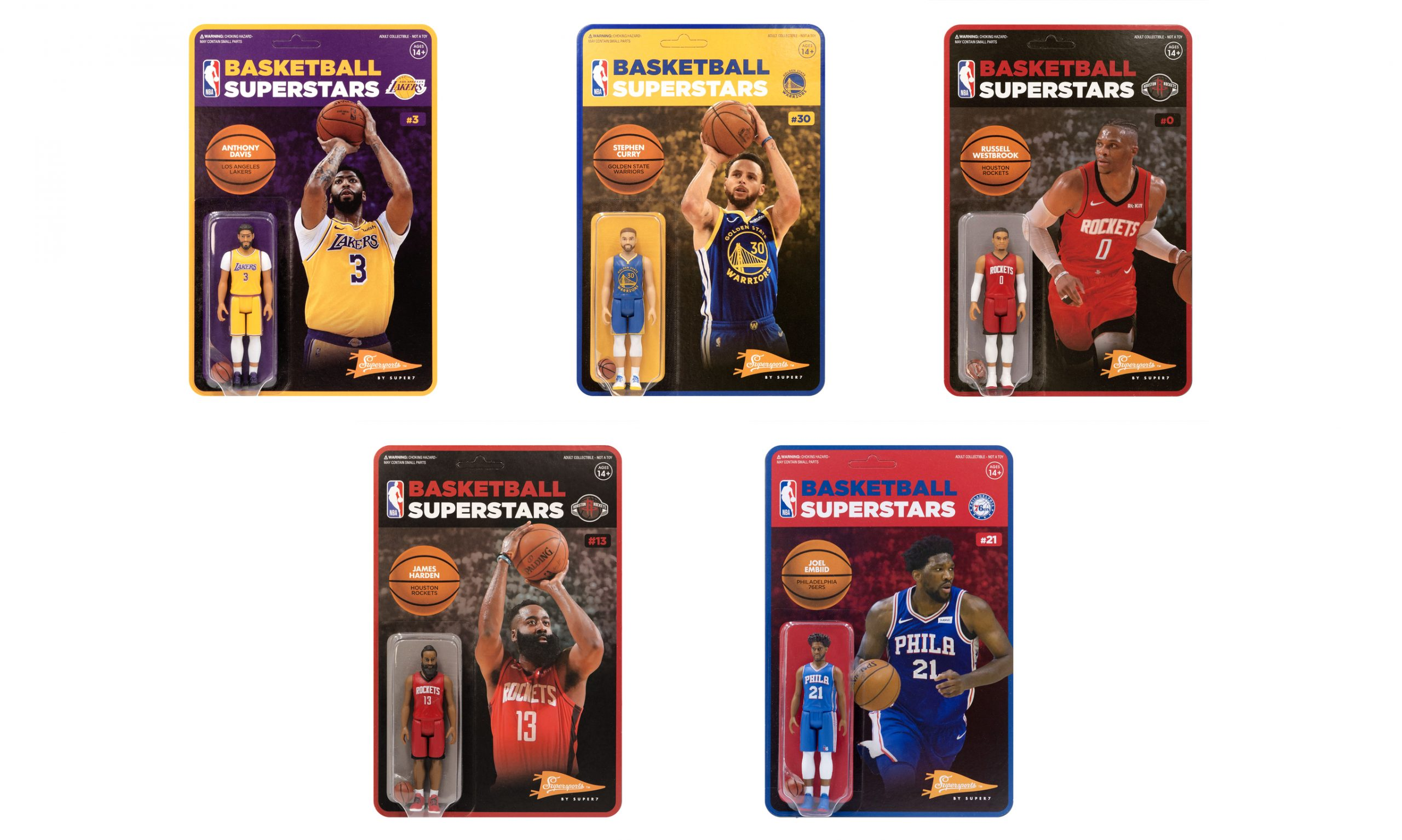 Super7 ReAction Figures 推出 NBA 球星吊卡公仔系列