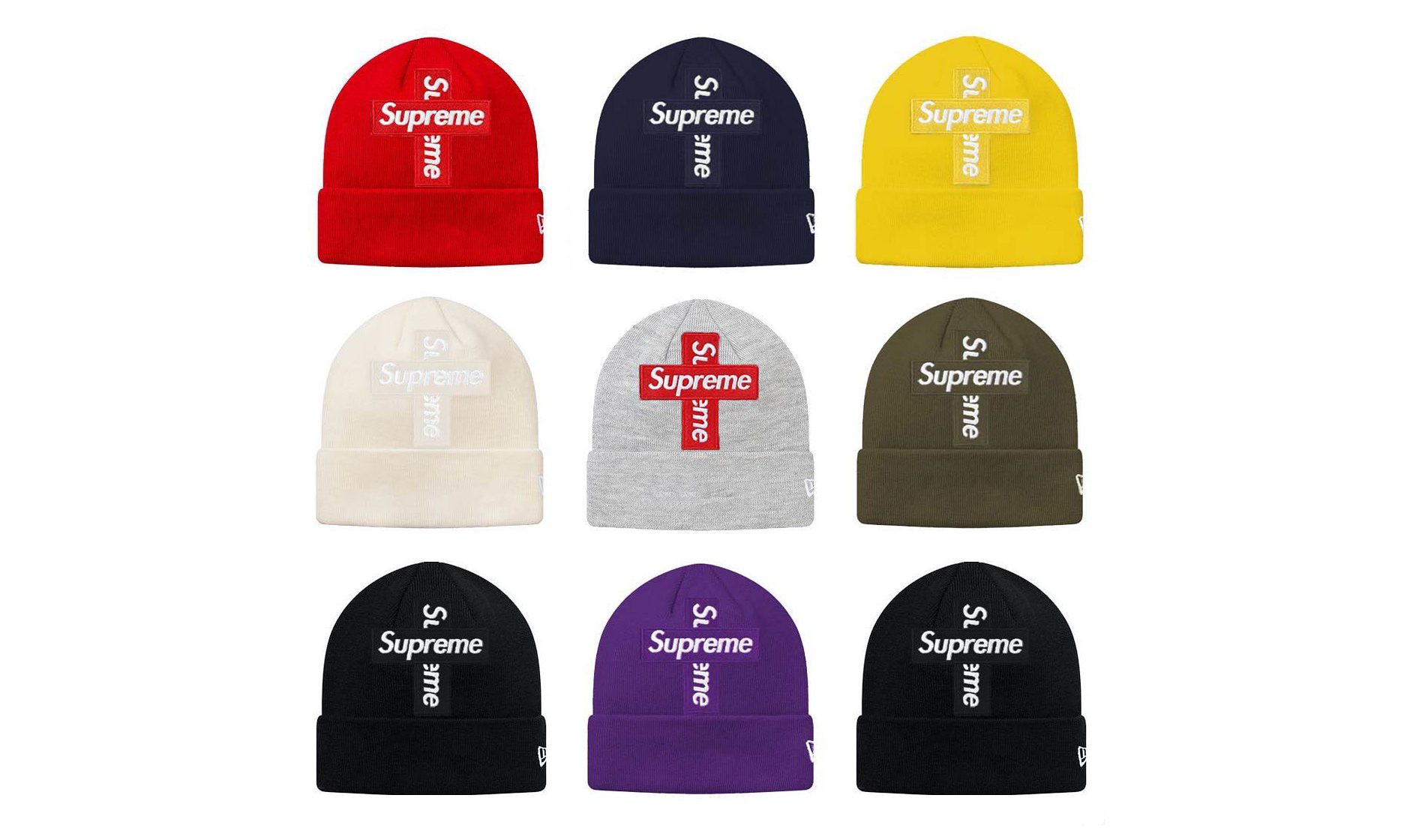 Supreme x New Era Cross Box Logo 冷帽本周发售