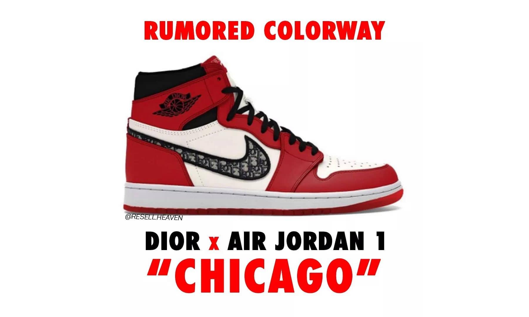 Dior x Air Jordan I 或将推出「Chicago」配色