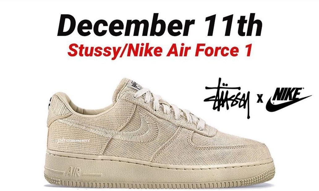 Stüssy x Nike Air Force 1 发售日期确定
