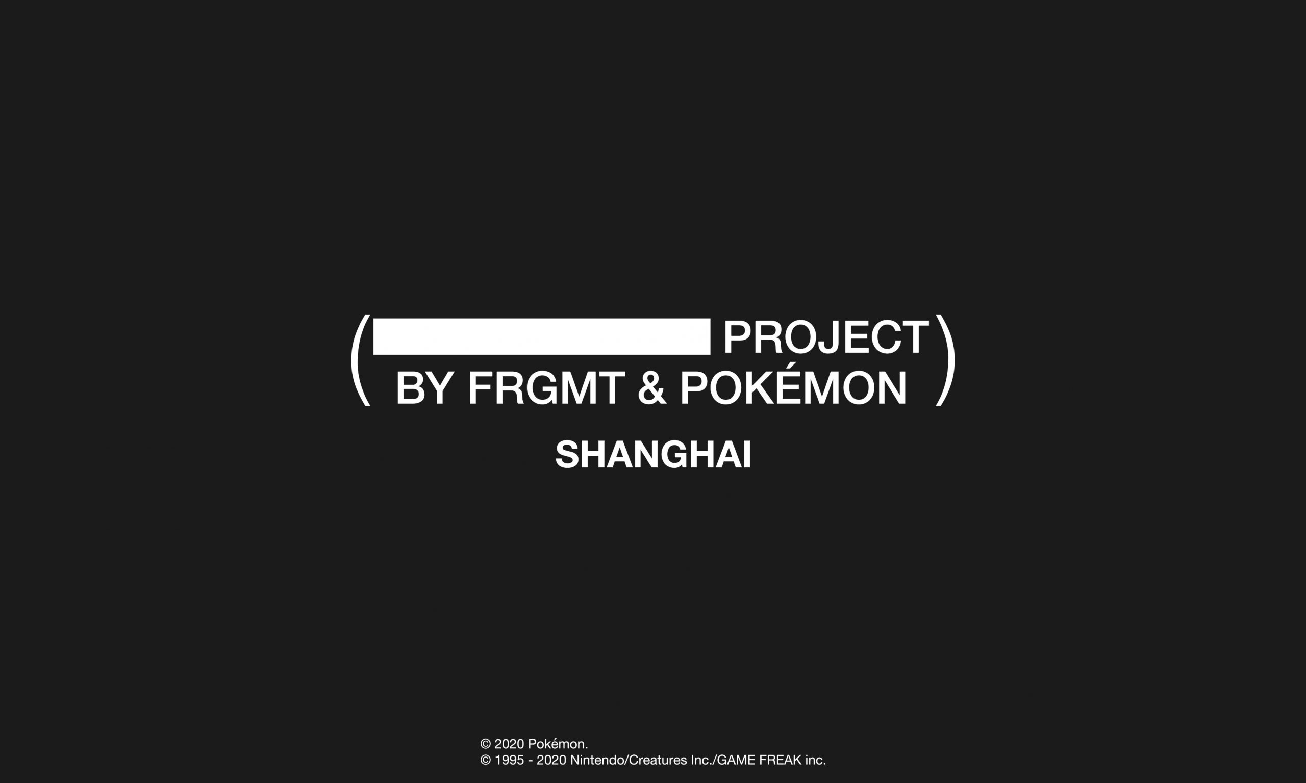 Thunderbolt Project by FRGMT & Pokémon 上海站即将开催