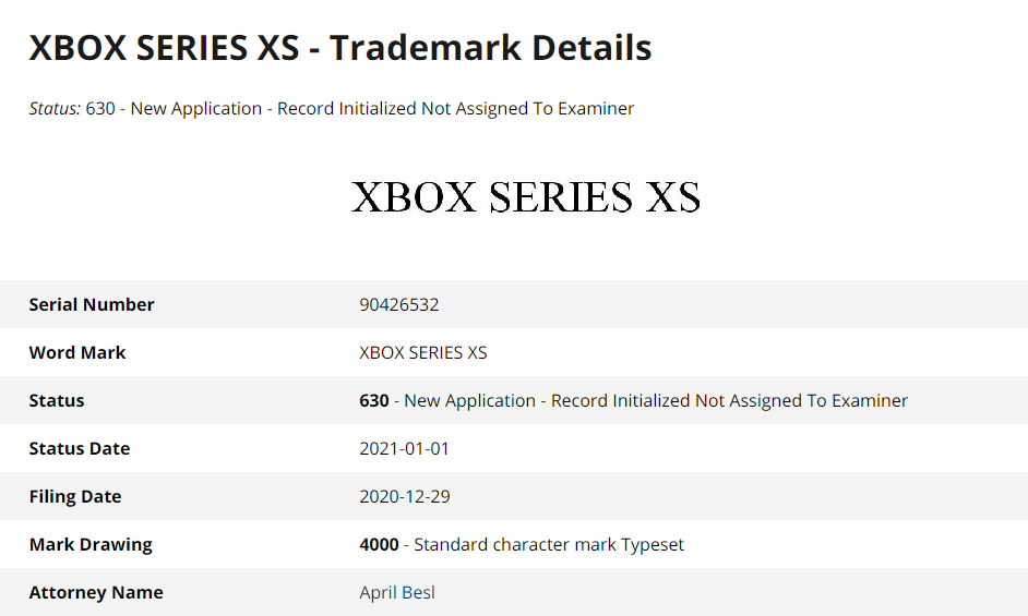 微软注册 Xbox Series XS 新商标