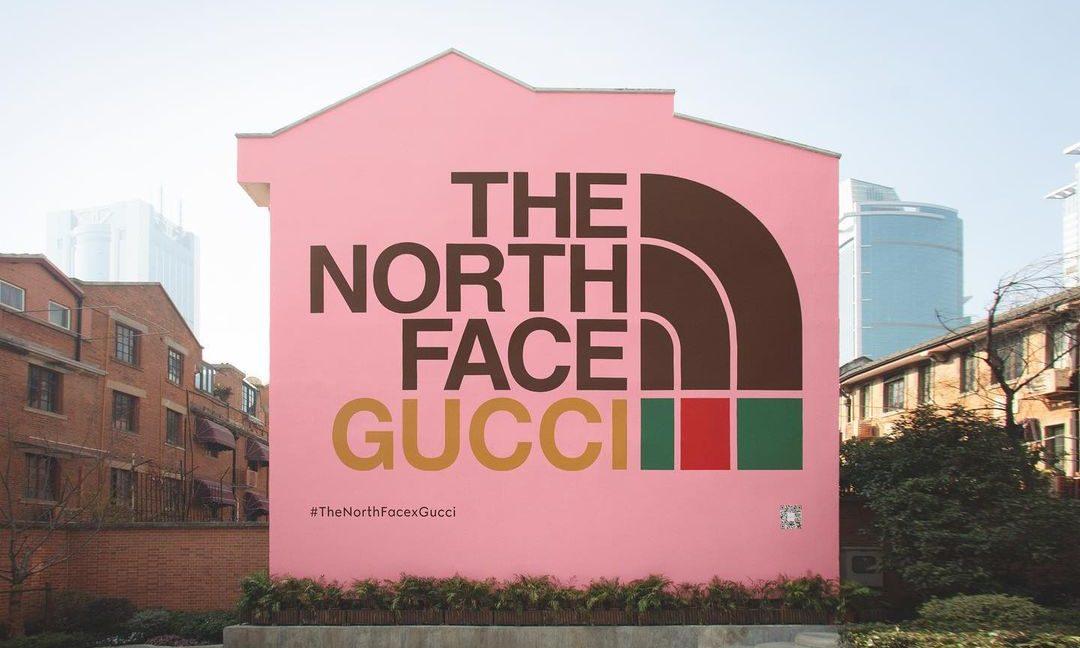 THE NORTH FACE x GUCCI 联乘系列推出全新艺术墙