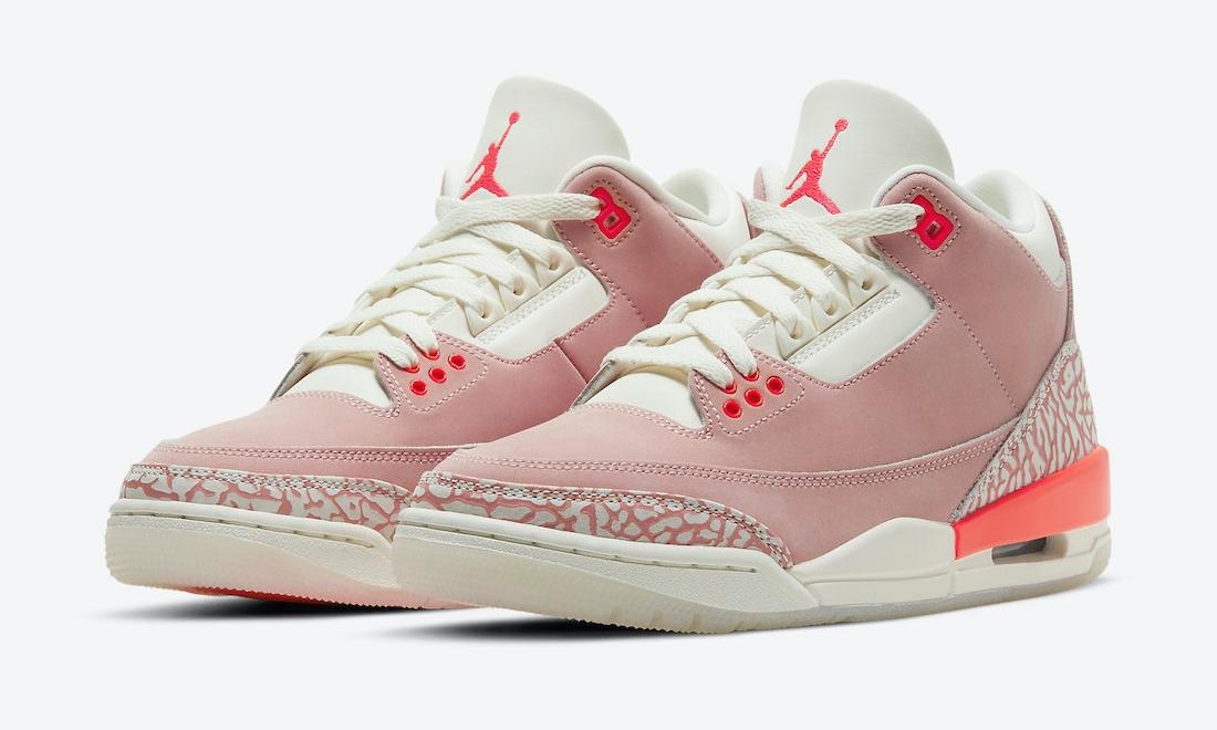 Air Jordan III「Rust Pink」细节近赏