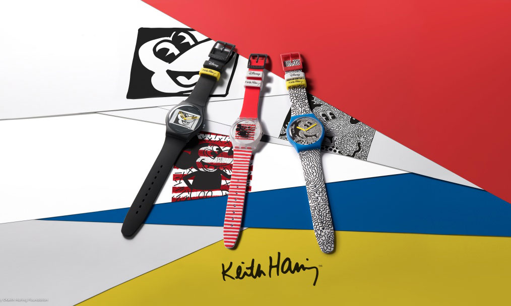 Disney Mickey Mouse x Keith Haring Collection by Swatch 腕表系列亮相