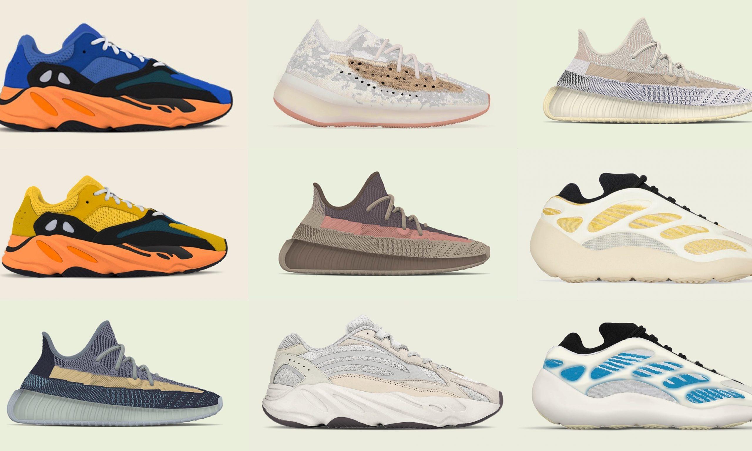 adidas Yeezy 2021 年发售计划清单先览