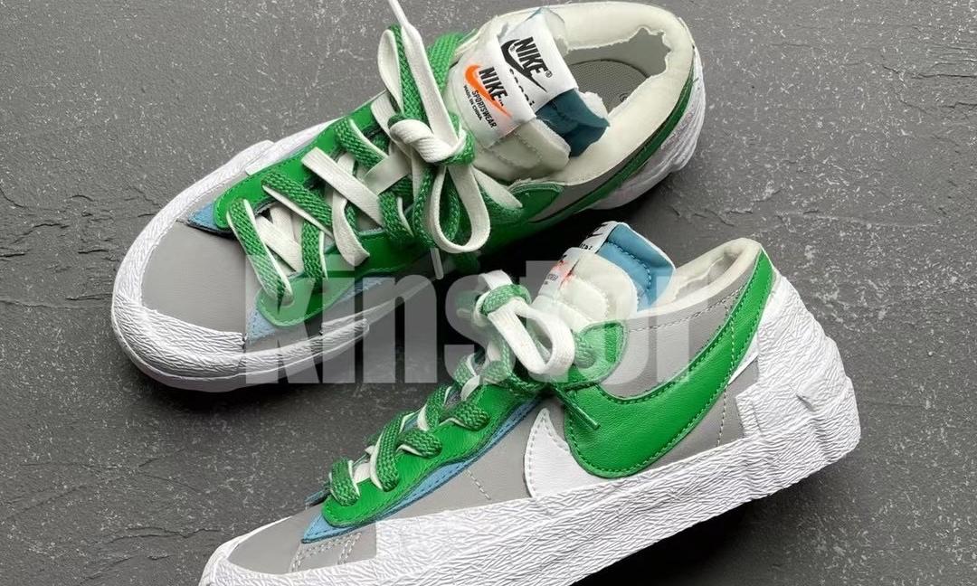 sacai x Nike Blazer Low「Classic Green」细节近赏