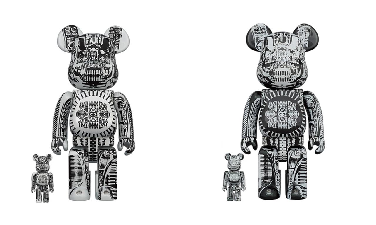 MEDICOM TOY 携艺术家 H.R. Giger 打造联乘 BE@RBRICK 玩偶套装
