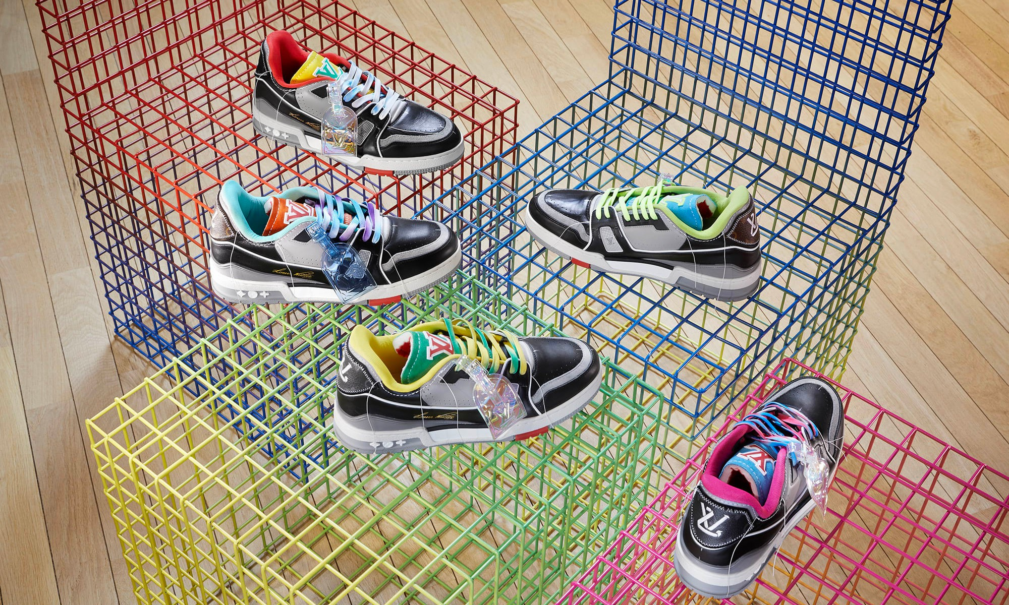 LOUIS VUITTON 发布 2021 春夏系列鞋款「Trainer Upcycling」