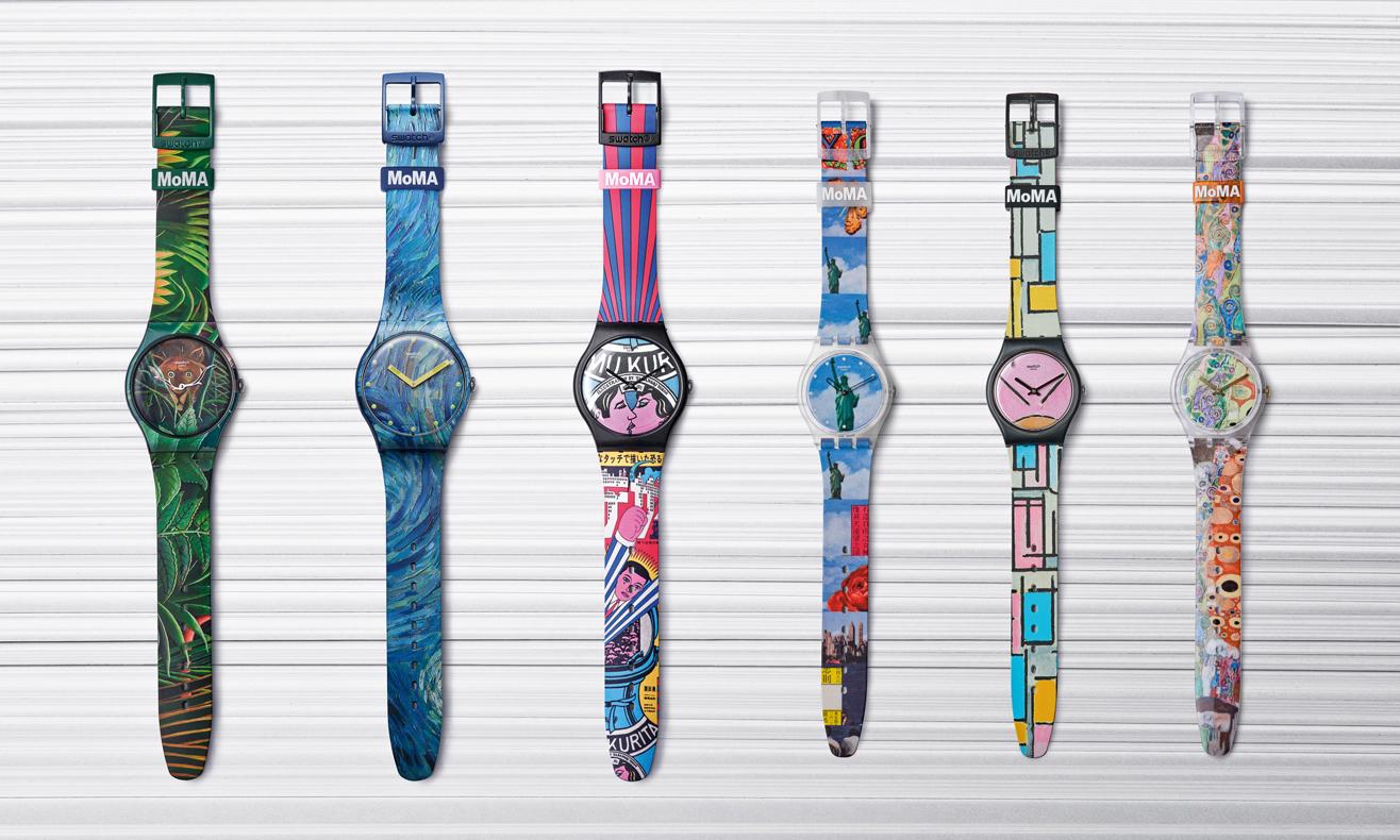 名作腕上戴,Swatch 携手 MoMA 打造联乘表款
