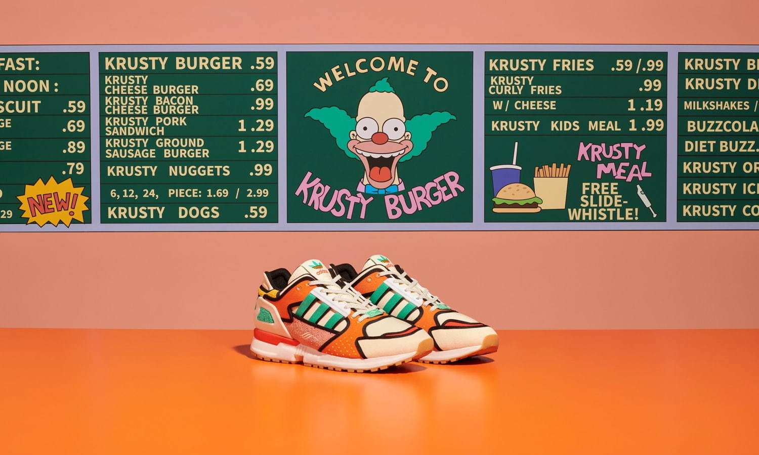 The Simpsons x adidas ZX 10000「Krusty Burger」即将发布