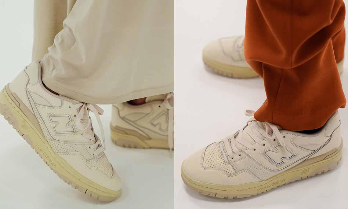 大热配色预警,AURALEE x New Balance 550 联名鞋款曝光
