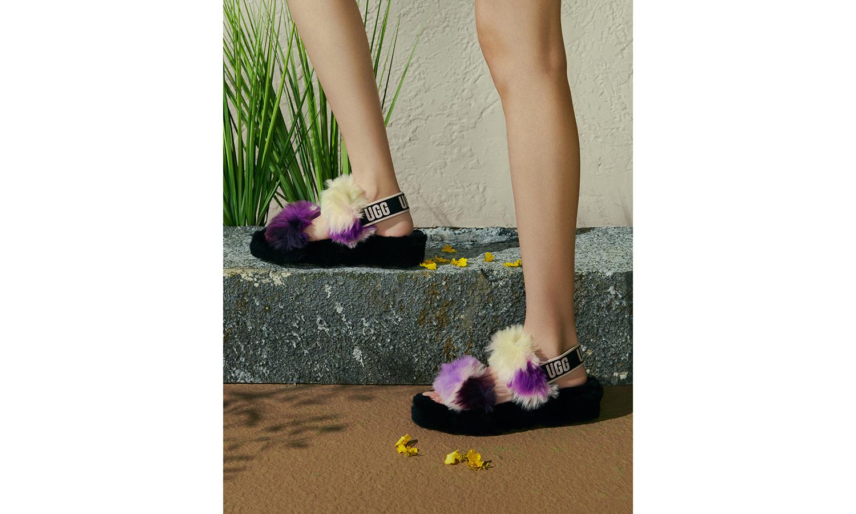 众多明星上脚,UGG 春夏毛茸凉鞋系列登场