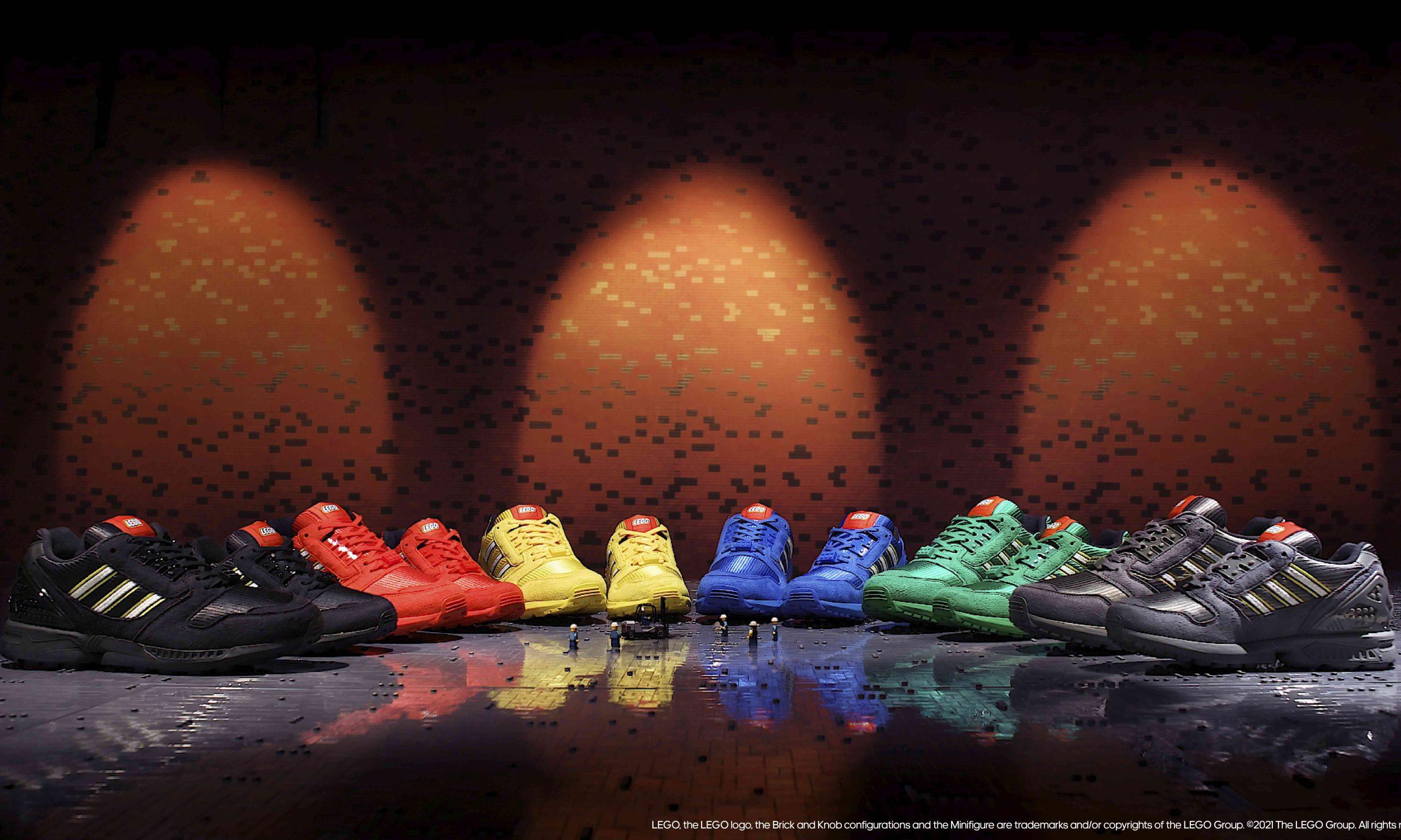跨界玩趣新生,adidas Originals 携手乐高打造 ZX 8000 积木系列