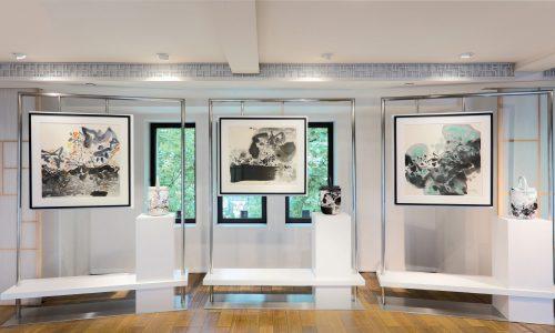 艺术与设计的灵魂对话,「上下」发布全新朱德群抽象水墨联名系列