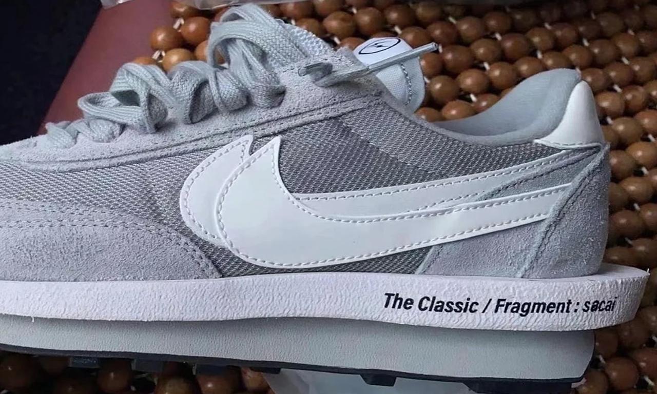 fragment design x sacai x Nike LDWaffle 全新灰白配色曝光
