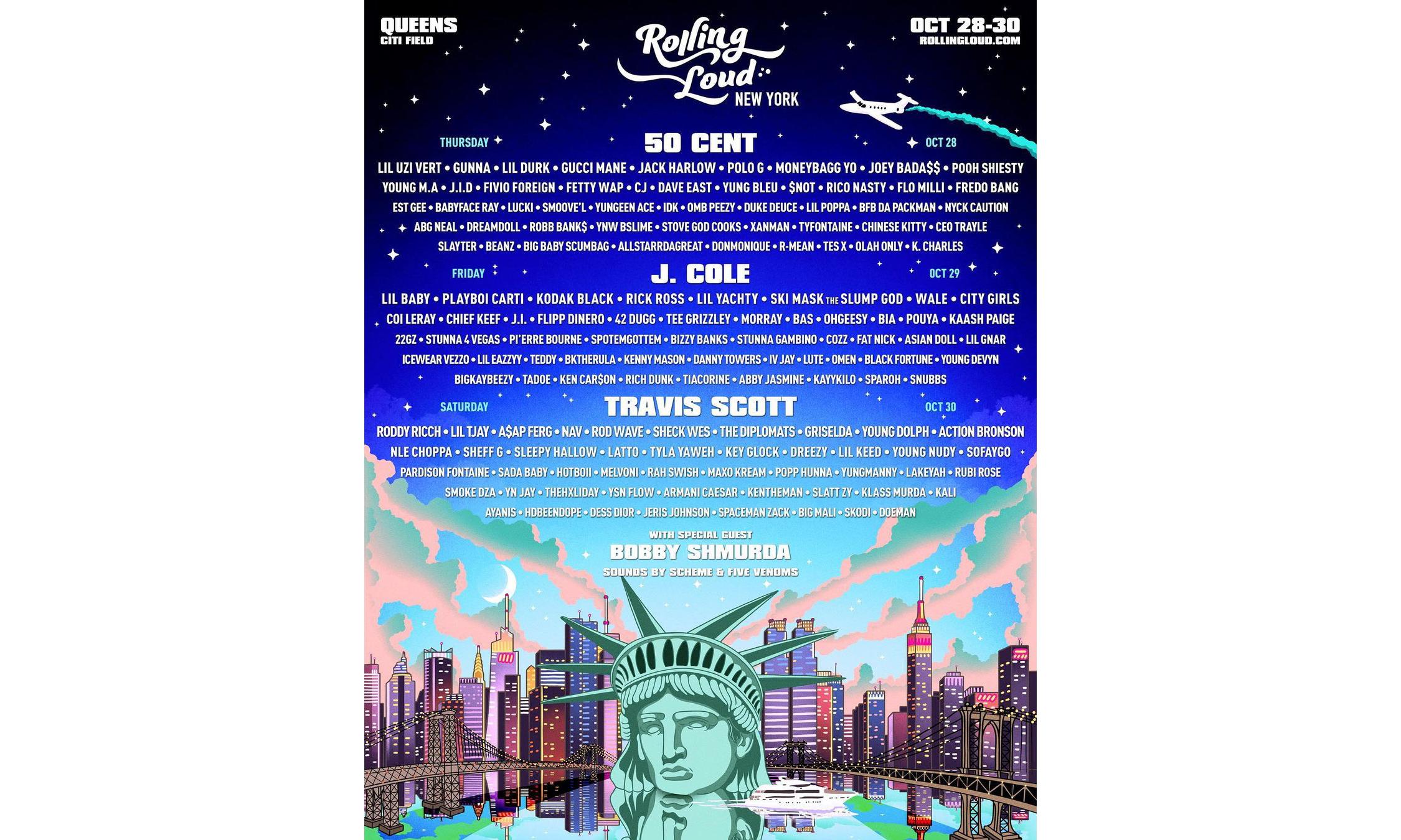 Rolling Loud 2021 纽约站演出阵容公开