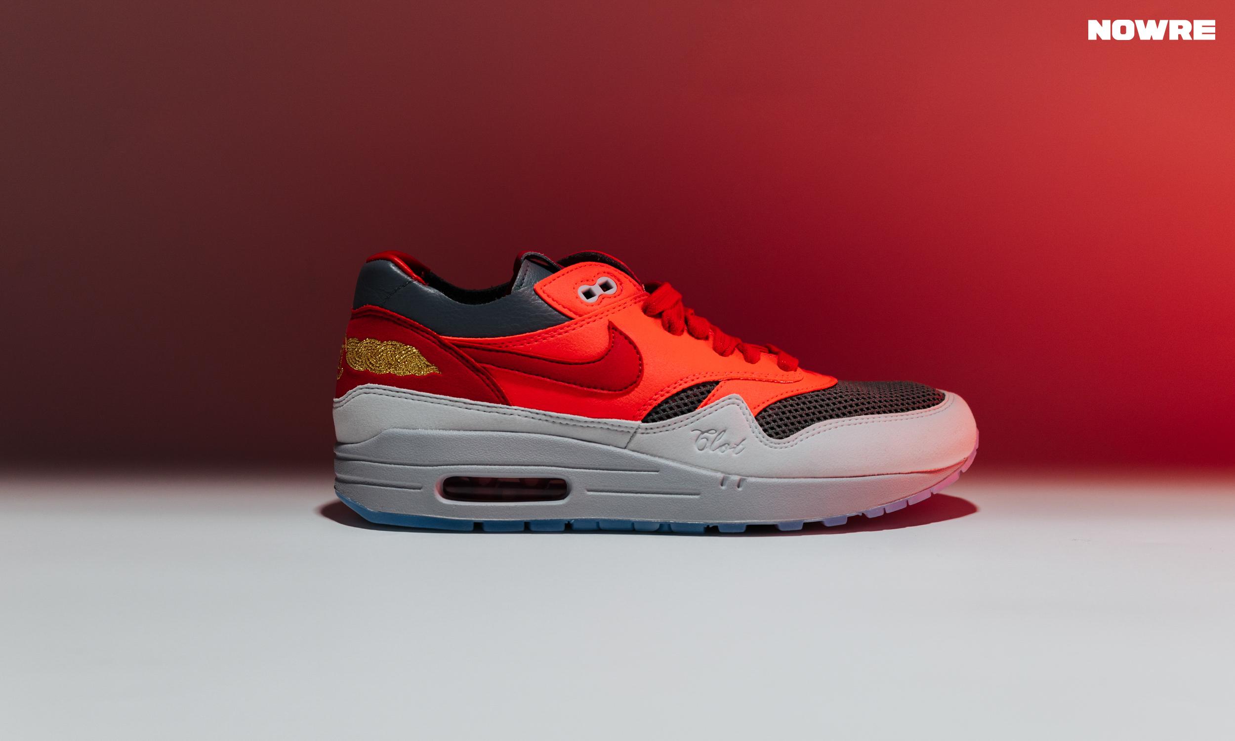 给你做陈冠希亲友的机会,CLOT x Nike Air Max 1「K.O.D.」SOLAR RED 细赏