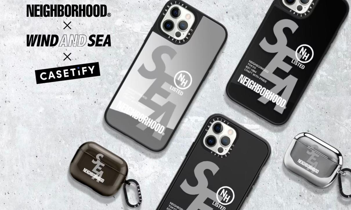 WIND AND SEA x CASETiFY x NEIGHBORHOOD 联名系列即将发售