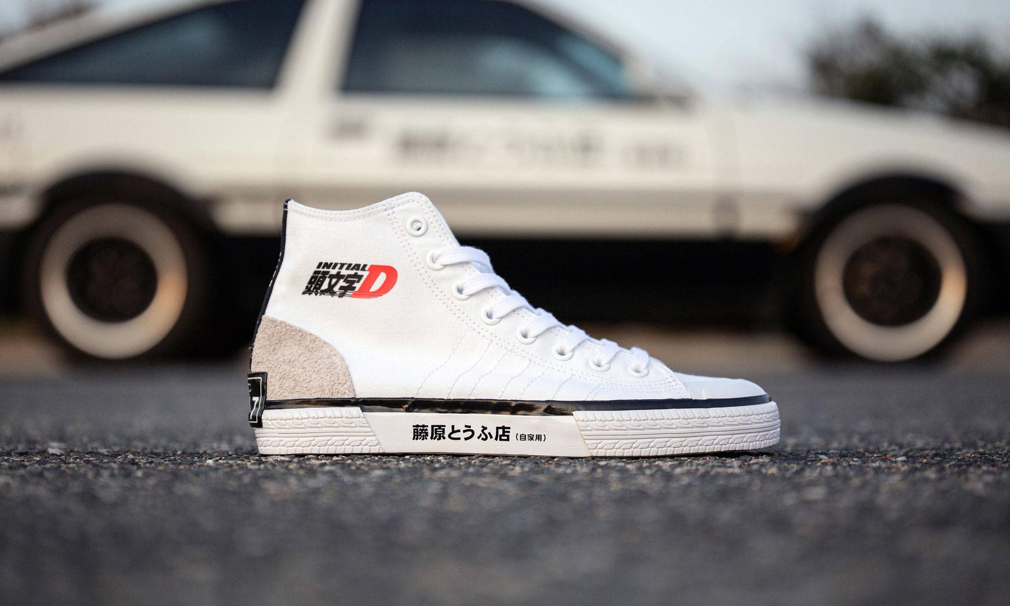 BAIT 携手 adidas 推出《头文字D》主题 Nizza Hi 鞋款