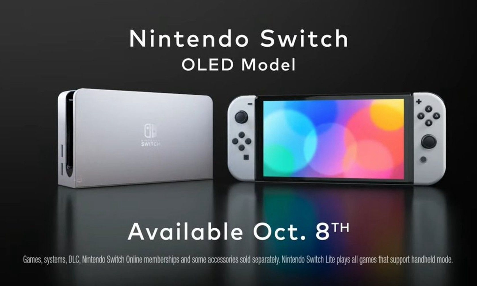 Nintendo Switch OLED 新机型正式公开亮相