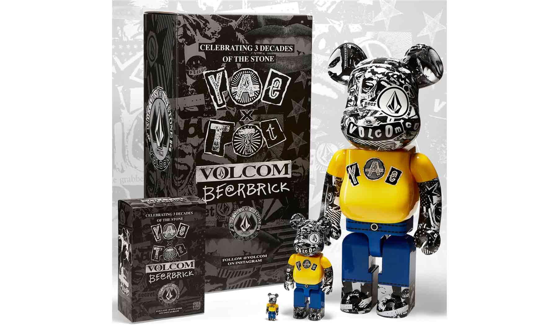 致敬 VOLCOM 30 周年,VOLCOM x BE@RBRICK 联名潮玩全球首发